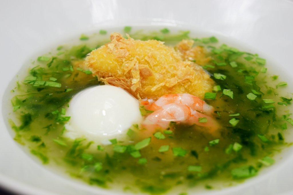 新メニュー『今月の魚料理』 本日の魚の湯葉フリット 青海苔の和風ソース