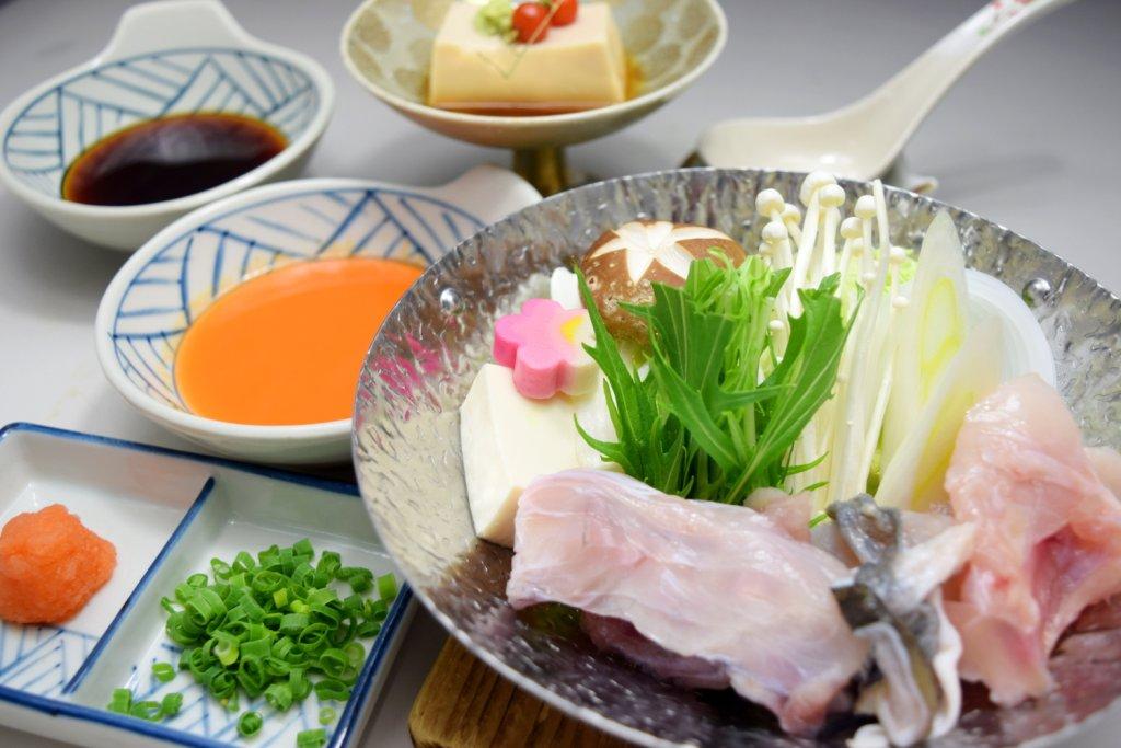 『今月の和食』 冬季限定 とらふぐ 1人鍋